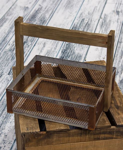 Picture of Galvanized Gathering Basket