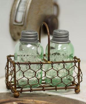 Picture of Mason Jar Salt & Pepper Shaker Set