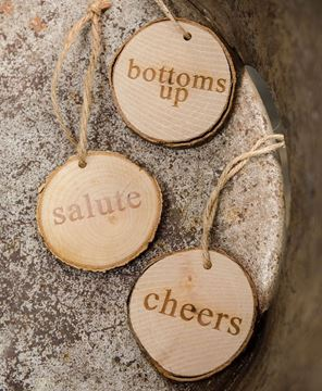 Picture of Bottoms Up Wine Tags, 3/set