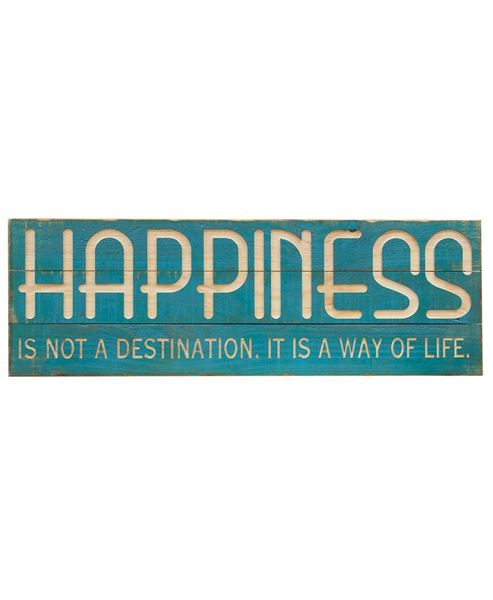 Picture of Happiness Wood Sign