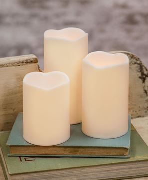 Picture of White Timer Pillars, 3/Set
