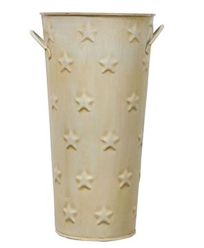 Picture of Cream Flower Bucket, 11""