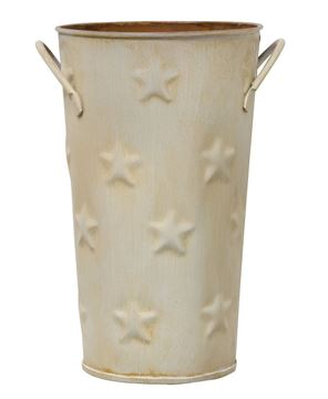 Picture of Cream Flower Bucket, 7""