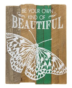 Picture of Beautiful Butterfly Slat Sign