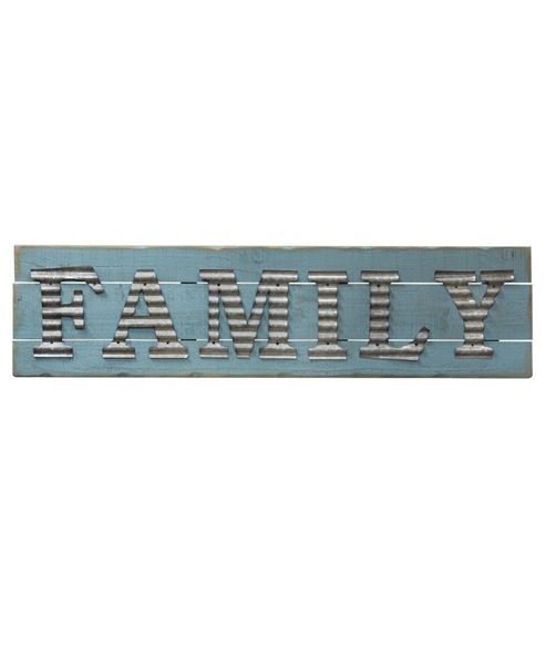 Picture of Galvanized Family Sign