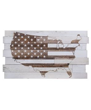 Picture of Whitewash USA Flag Sign
