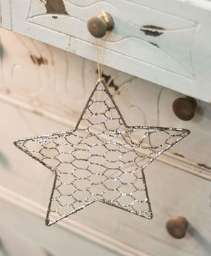 "Picture of Wire Star Ornament, 8"""