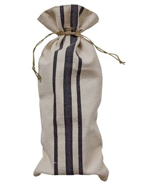 Picture of Black Striped Wine Bag