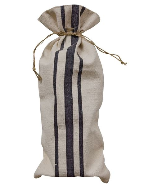 Picture of Black Striped Wine Bag