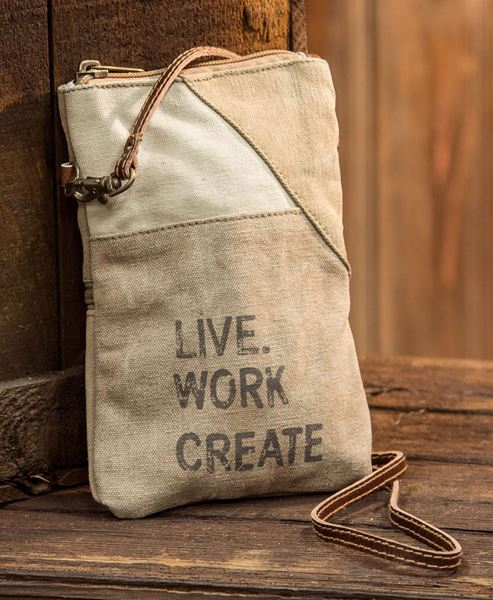 Picture of Live, Work, Create Crossbody Bag