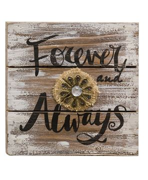 Picture of Forever and Always Wooden Sign