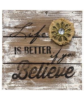 Picture of Believe Wooden Sign