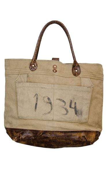 Picture of Vintage 1934 Canvas Handbag
