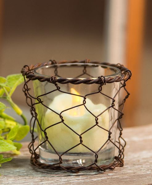 Picture of Chicken Wire Votive Holder