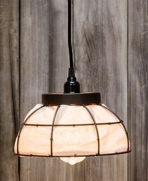 Picture of Canvas Lined Metal Lamp
