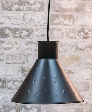 Picture of Black Tin Lamp