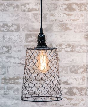 Picture of Chicken Wire Pendant Lamp