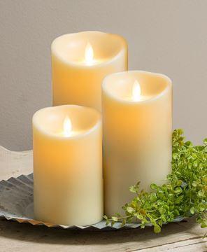"""Picture of Ivory Luminara Pillar 9"""""""