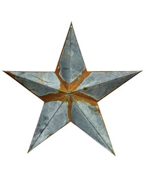 """Picture of Rusty Galvanized Star 24"""""""