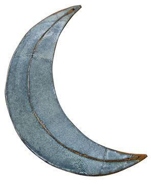 """Picture of Rusty Galvanized Moon 16"""""""