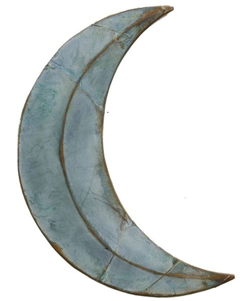Picture of Rusty Galvanized Moon 24""
