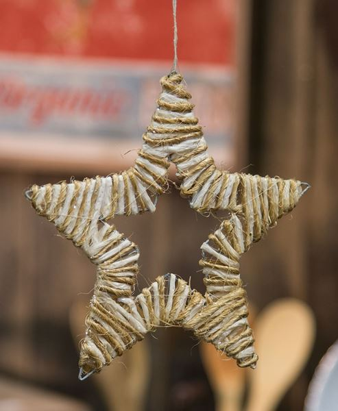 """Picture of Jute Wrapped Star Ornament, 8"""""""