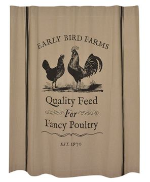 Picture of Fancy Poultry Shower Curtain