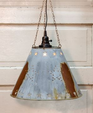 Picture of Galvanized Star Lampshade
