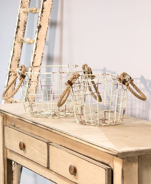 Picture of Wire Baskets with Rope Handles