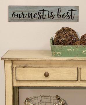 Picture of Our Nest is Best Engraved Wooden Sign