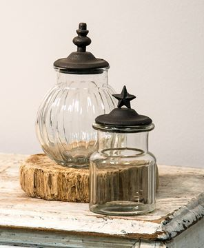 Picture of Rustic Glass Star Jar