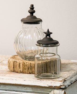 Picture of Rustic Glass Bulb Jar