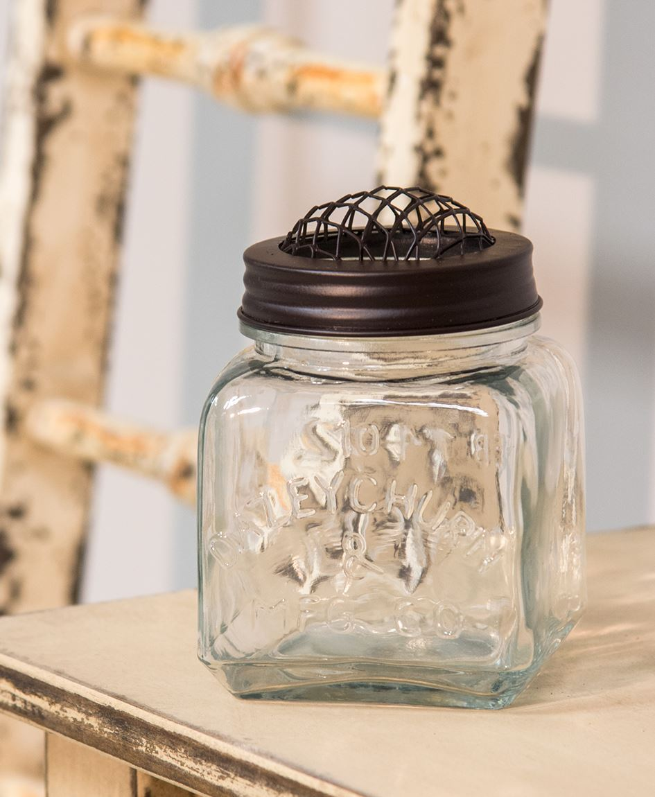 Old fashioned glass jars 93