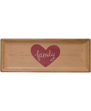 Picture of Heart and Arrow Tray, Family