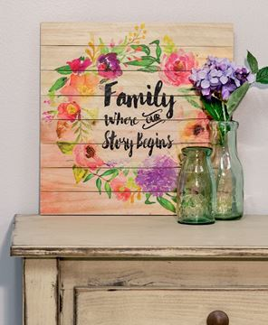 Picture of Our Story Begins Floral Sign
