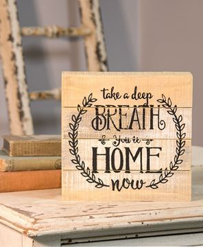 Picture of Take a Deep Breath Wooden Sign