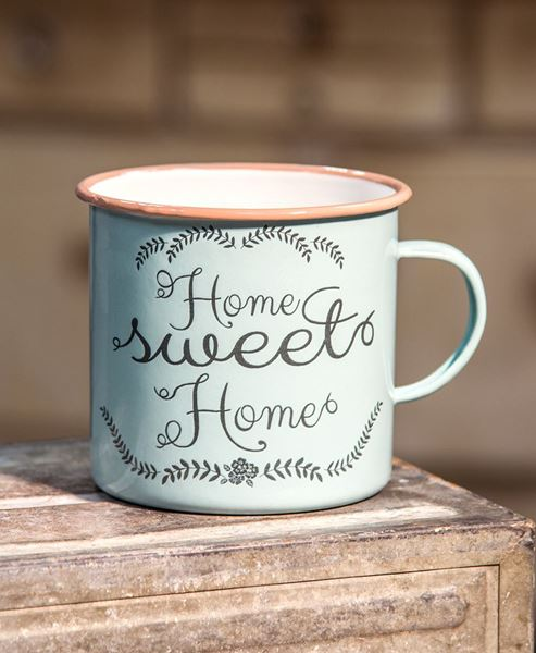 Picture of Powder Blue Home Sweet Home Mug, Large