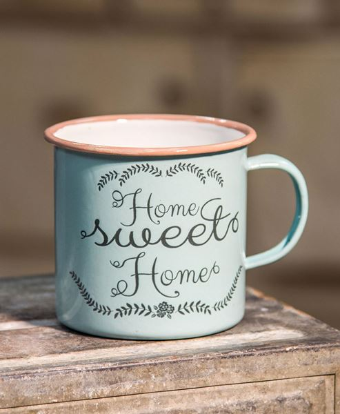 Picture of Powder Blue Home Sweet Home Mug, Medium