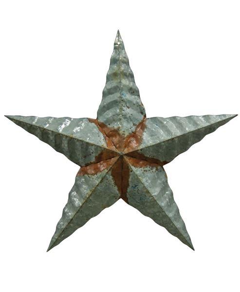 """Picture of Galvanized Corrugated Star, 18"""""""