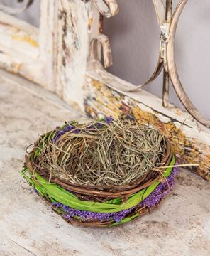 Picture of Lavender and Green Grass Bird's Nest, 6""