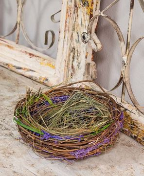 Picture of Lavender and Green Grass Bird's Nest, 8""