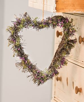 Picture of Lavender Twig Heart Wreath
