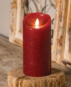 "Picture of Rustic Red Luminara Pillar 7"""