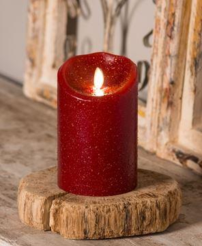 "Picture of Rustic Red Luminara Pillar 5"""