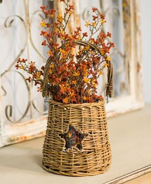Picture of Glass and Willow Star Basket