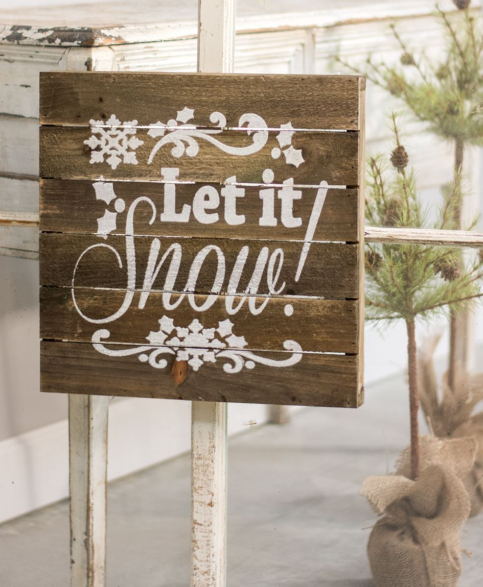 Craft House Designs - Wholesale| Let it Snow Slatted Wood Sign