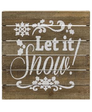 Let it Snow Slatted Wood Sign