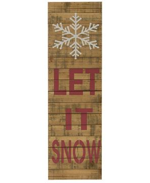 Let it Snow Snowflake Sign