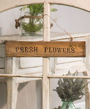 Fresh Flowers Hanging Sign