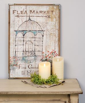 Flea Market Framed Sign